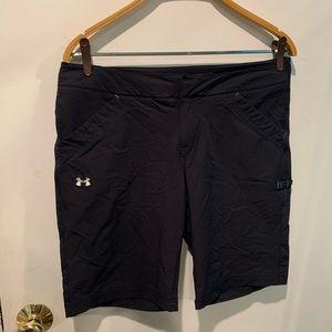 Under armor long shorts.  A1